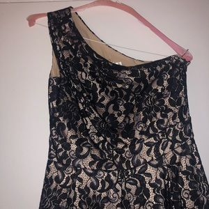 Eliza J Dresses - Eliza J. One shoulder Lace dress with pockets